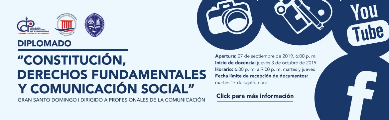 """Imagen de Diplomado """"Constitución, derechos fundamentales y comunicación social"""""""