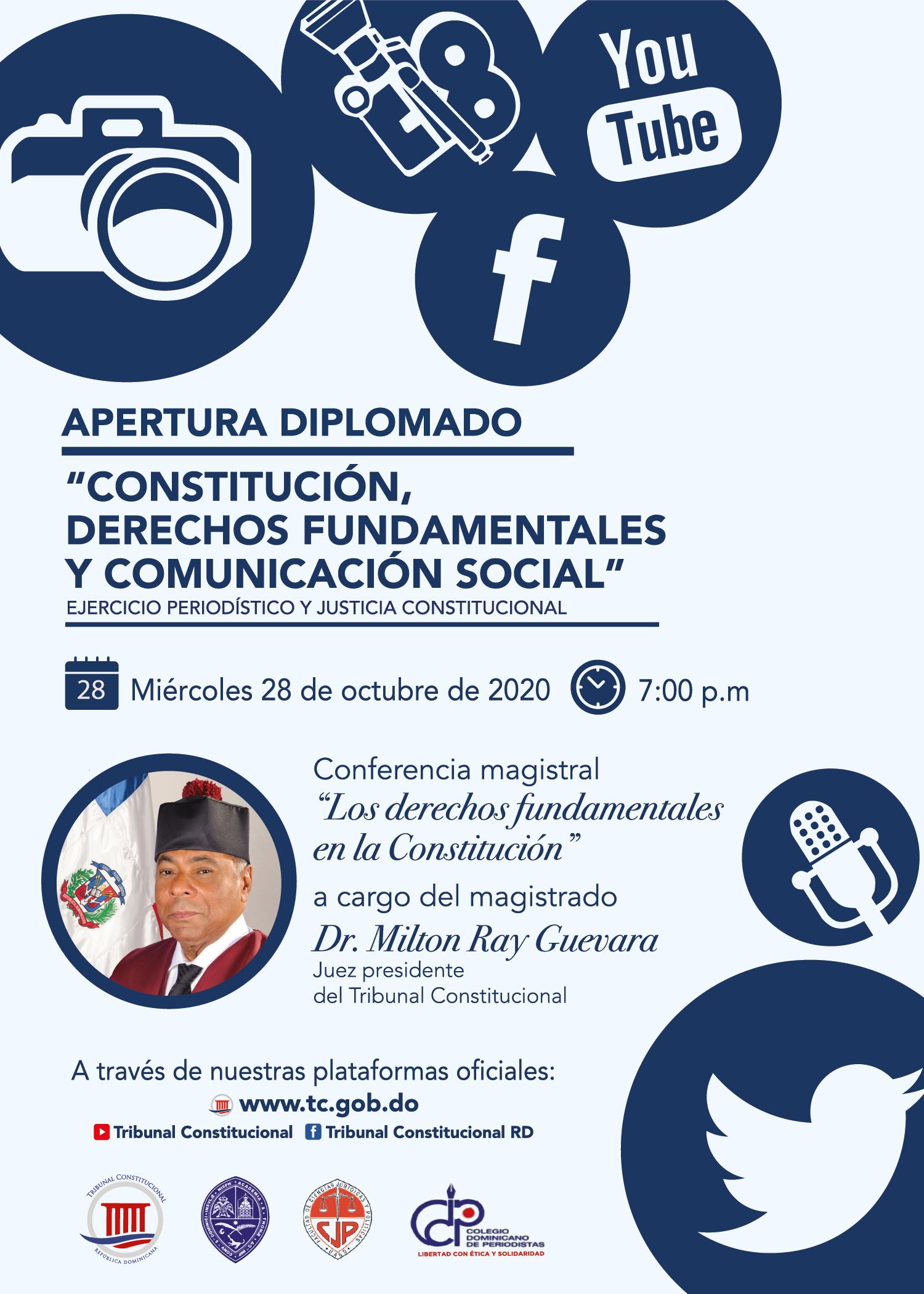 """Imagen de Apertura Diplomado: """"Constitución, Derechos Fundamentales y Comunicación Social"""""""