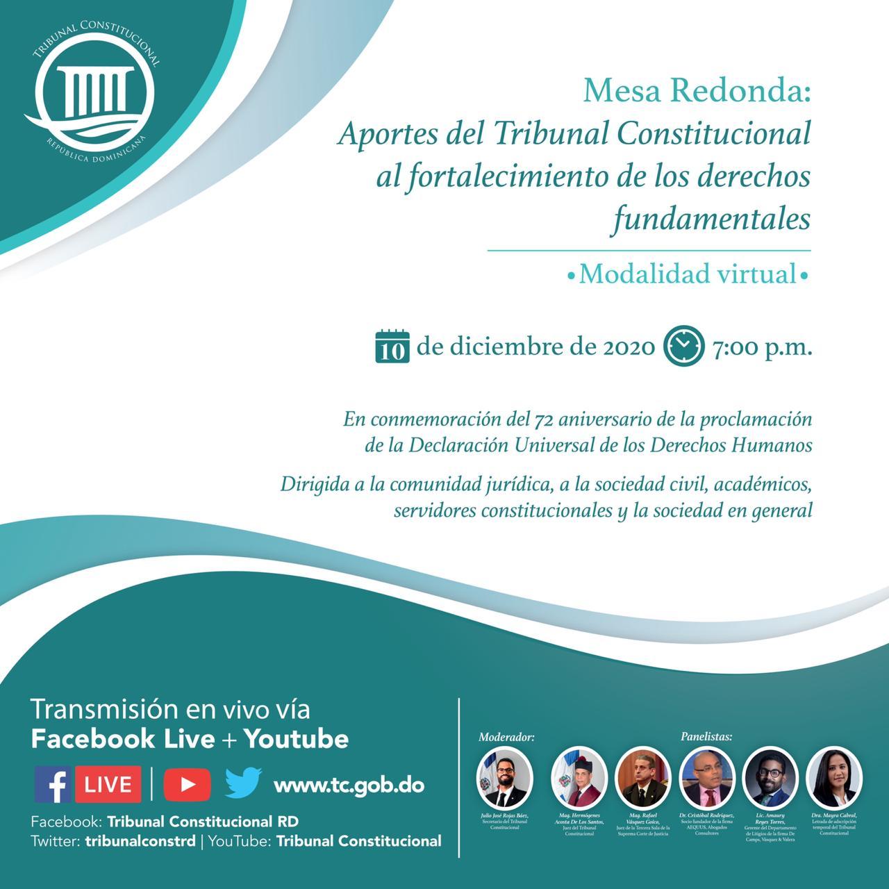 Imagen de Mesa Redonda: aportes del Tribunal Constitucional al fortalecimiento de los derechos fundamentales