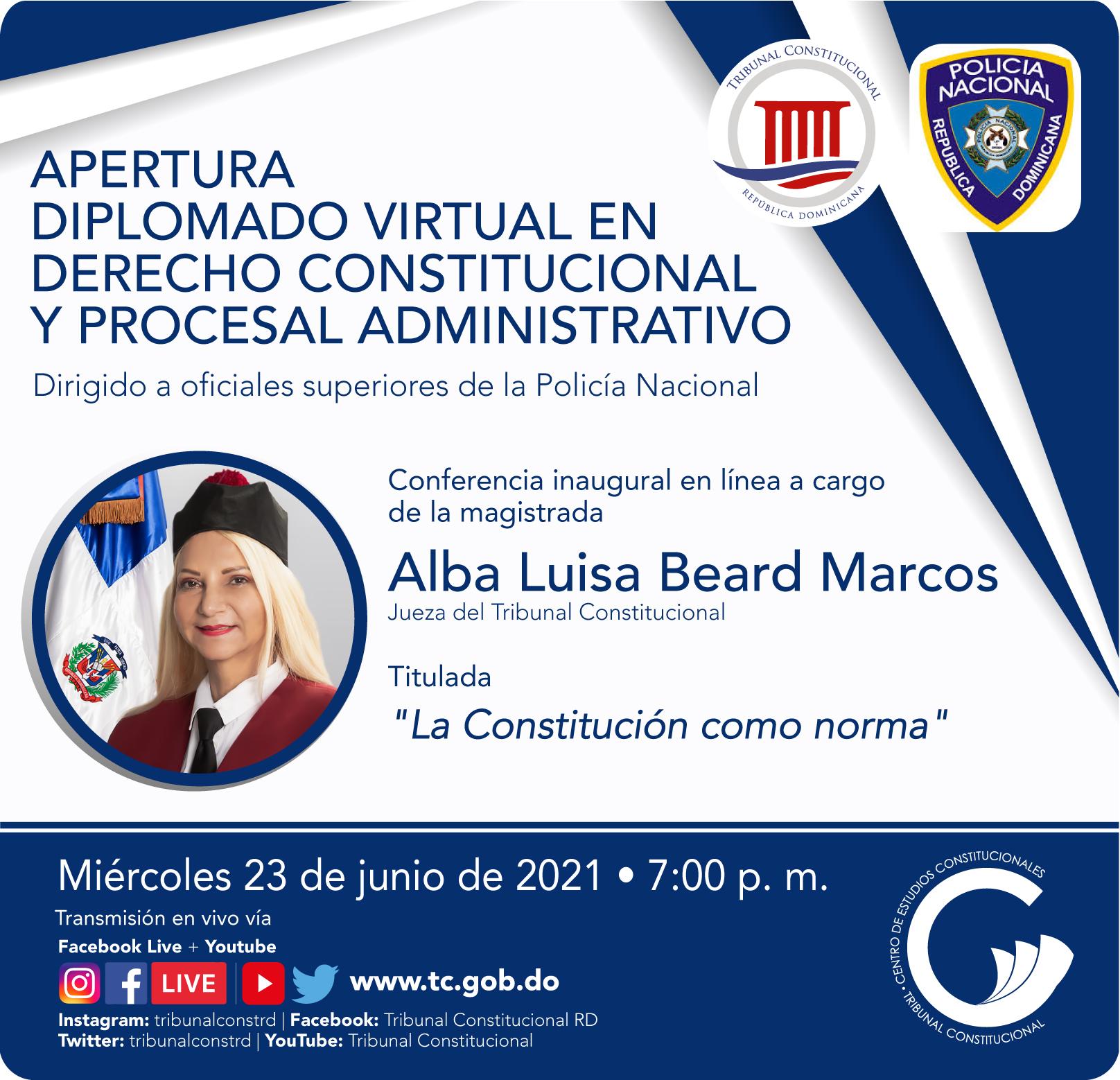 Imagen de Diplomado Virtual en Derecho Constitucional y Procesal Administrativo 2021